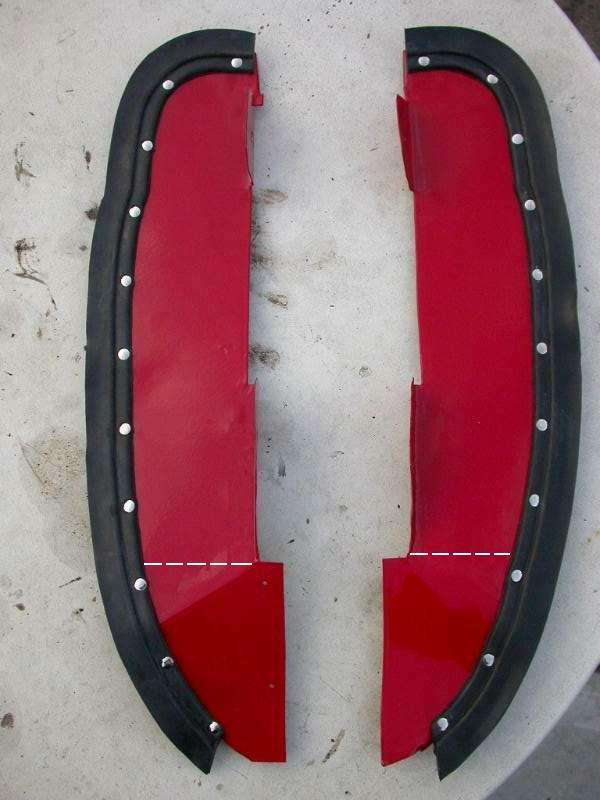 Splash Panels Ahead Of The Rear Wheels